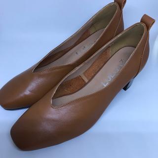 レディース 革靴 パンプス 新品未使用 ヒール 牛革(ハイヒール/パンプス)