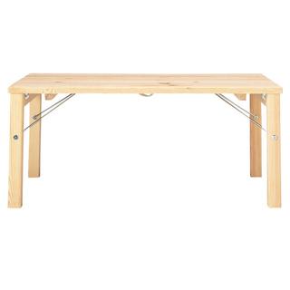 ムジルシリョウヒン(MUJI (無印良品))の無印良品  パイン材ローテーブル  折りたたみ式♡火曜日まで(ローテーブル)