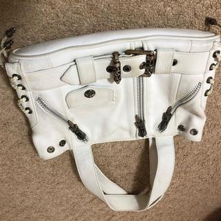 クロムハーツ(Chrome Hearts)のクロムハーツjj deanバッグ白chrome hearts bag(トートバッグ)