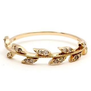 アガット(agete)のagete K10 ダイヤモンド ピンキー リング(リング(指輪))