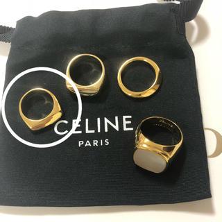 セリーヌ(celine)のプー様専用ページ まとめ買い割引3点  ロゴ巾着付き(リング(指輪))
