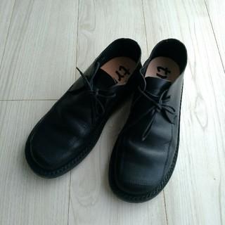 トリッペン(trippen)の美品★trippen トリッペン★sheet レザーシューズ 黒 38(ローファー/革靴)