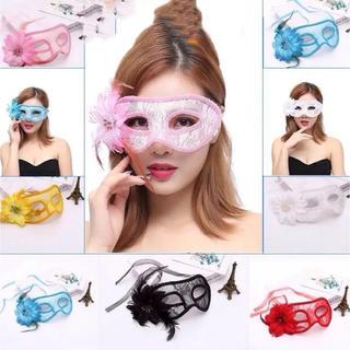 セール新品️ハロウィンコスプレ総レースフラワーアイマスク♪ 仮面変装アイマスク(小道具)