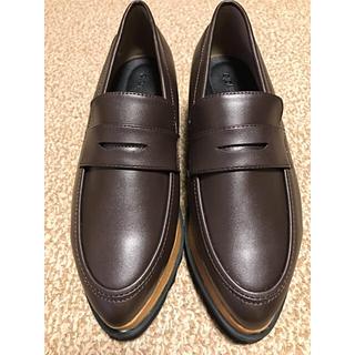 ティティベイト(titivate)の厚底 ローファー ブラウン 24.5cm(ローファー/革靴)