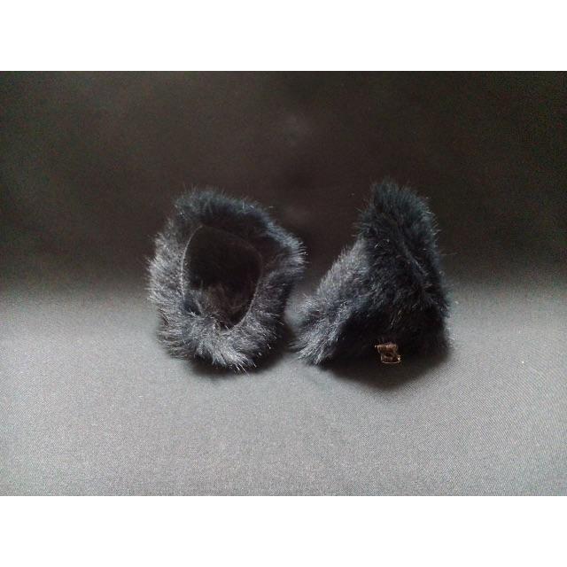 【 ブラックネコミミ 】ヘアピンねこみみ◆黒色◆頭の髪に着けられる猫耳 ハンドメイドのアクセサリー(ヘアアクセサリー)の商品写真