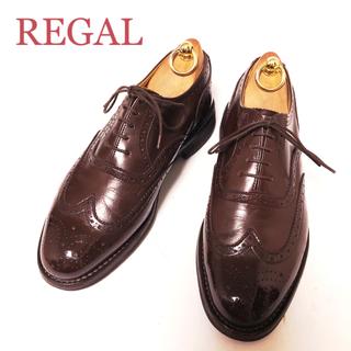 リーガル(REGAL)の86.REGAL リーガル GEOX ウィングチップ 箱付き 24cm(ドレス/ビジネス)