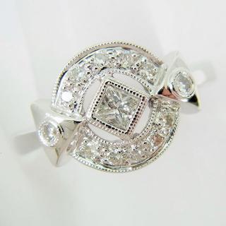 K18WG ダイヤモンド リング 13.5号[f59-1](リング(指輪))