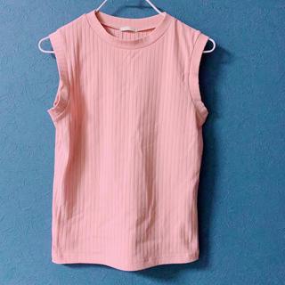 ジーユー(GU)のノースリーブ ピンク(シャツ/ブラウス(半袖/袖なし))