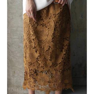 アンティカ(antiqua)のANTIQUA レーススカート(ひざ丈スカート)