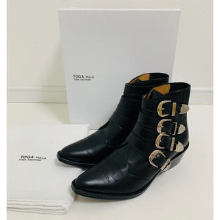 トーガ(TOGA)の新品未使用☆TOGA plulla トーガ☆メタルバックルウエスタンブーツ(ブーツ)