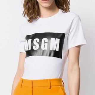 エムエスジイエム(MSGM)のMSGM Tシャツ ロゴTシャツ MSGM白Tシャツ(Tシャツ(半袖/袖なし))