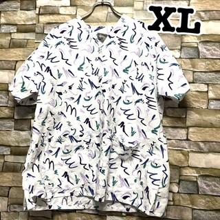 061 前開き アメリカ古着 スクラブシャツ ドクターシャツ ホスピタルシャツ(シャツ/ブラウス(半袖/袖なし))