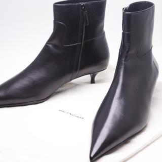バレンシアガ(Balenciaga)のバレンシアガ ポイントテッド サイドジップブーツ ブラック 41.5 ブラック(ブーツ)
