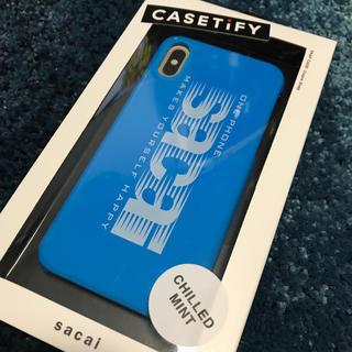 サカイ(sacai)のsacai iPhoneケース XS casetify パリ限定 青(iPhoneケース)