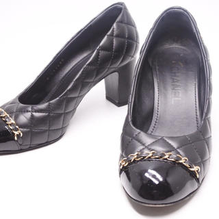 シャネル(CHANEL)のCHANEL シャネル パンプス シューズ 靴 キルティング 36 1/2 正規(ハイヒール/パンプス)