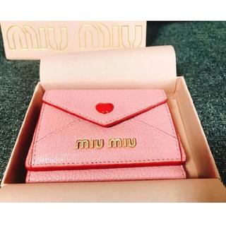 ミュウミュウ(miumiu)のミュウミュウ miumiu 新品 ラブレター財布(折り財布)