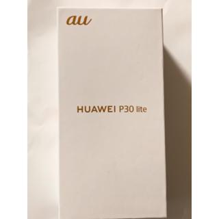 au - ファーウェイ P30lite premium 128GB au ブラック 新品