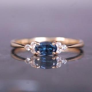 Bizoux ビズー リング ベキリーブルーガーネット ダイヤ K18 YG(リング(指輪))