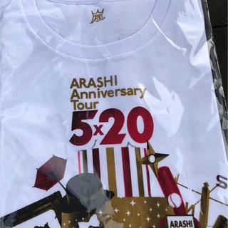アラシ(嵐)の嵐 5×20 Tシャツ ホワイト(Tシャツ(半袖/袖なし))