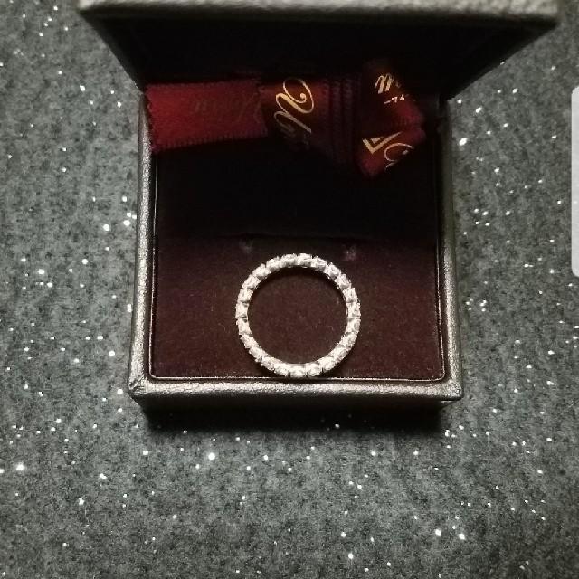 底値☆K18 WG ホワイトトパーズ フルエタニティリング 15号 レディースのアクセサリー(リング(指輪))の商品写真
