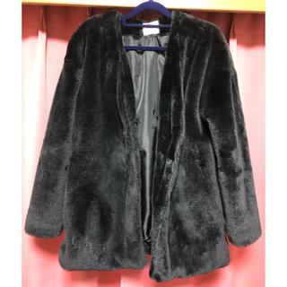 シマムラ(しまむら)の黒色♡ファーコート(毛皮/ファーコート)