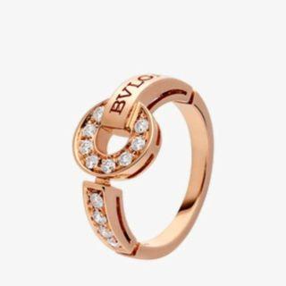 ブルガリ(BVLGARI)のBVLGARI パヴェダイヤモンド リング Pink Gold(リング(指輪))