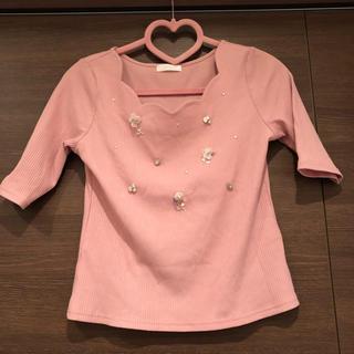 ミーア(MIIA)のピンク♡トップス(カットソー(半袖/袖なし))
