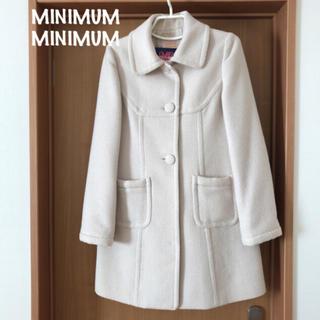 ミニマム(MINIMUM)の【美品】MINIMUM コート リボン/ブローチ付き(ロングコート)