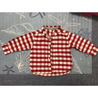 無印良品 ギンガムチェックシャツ サイズ80