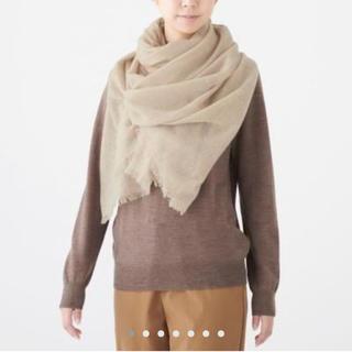 ムジルシリョウヒン(MUJI (無印良品))のカシミヤ平織り ストール 180✕80・モカブラウン(マフラー/ストール)