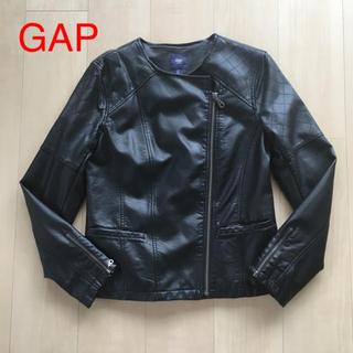 ギャップ(GAP)のGAP ノーカラー ダブルライダース ジャケット(ライダースジャケット)