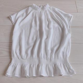 ジーユー(GU)のGU ハイネックブラウス(シャツ/ブラウス(半袖/袖なし))