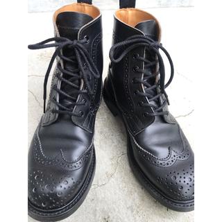 トリッカーズ(Trickers)のトリッカーズ  Trickers ウィングチップ ブーツ ブラック(ブーツ)