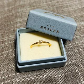 ノジェス(NOJESS)の【NOJESS】K18一粒ダイヤ ピンキーリング(リング(指輪))