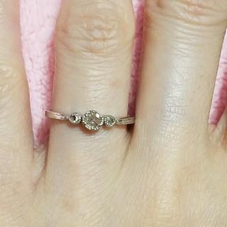 ジルスチュアート(JILLSTUART)の11月末まで ジルスチュアート プラチナ ローズカットダイヤモンドリング(リング(指輪))