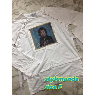 スタイルナンダ(STYLENANDA)の⑤⓪③stylenanda個性派 ロングスリーブ Tシャツ size F(Tシャツ(長袖/七分))