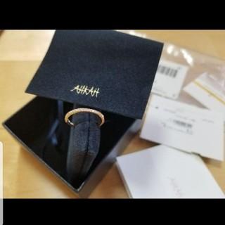 アーカー(AHKAH)のAHKAH アーカー ティナリング k18 ダイヤモンドリング 8号 ピンク(リング(指輪))