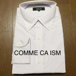 コムサイズム(COMME CA ISM)のコムサ•ドレスシャツ(パープルストライプ)(シャツ)