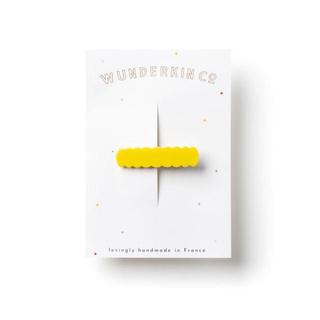ボンポワン(Bonpoint)のwunderkinスカラップヘアクリップ☆新品未使用イエロー(ファッション雑貨)
