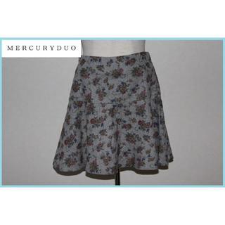 マーキュリーデュオ(MERCURYDUO)の美品!MERCURY DUO 花柄ミニスカート *889 マーキュリーデュオ(ミニスカート)