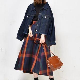 ナチュラルクチュール(natural couture)のナチュラルクチュール ビッグチェックスカート(ロングスカート)