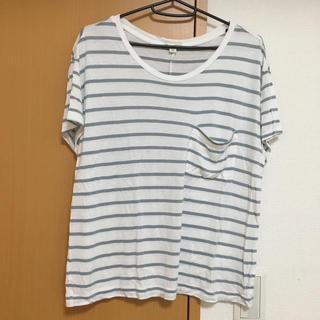 ギャップ(GAP)のGap ギャップ 細ボーダー Tシャツ グレー(Tシャツ(半袖/袖なし))