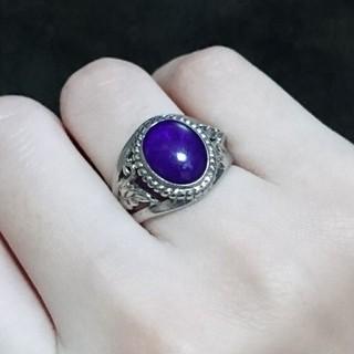 男女兼用 指輪 リング パープル 紫 シルバー アクセサリー ゴシック 13号 (リング(指輪))