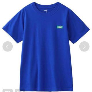 エックスガール(X-girl)のx-girl エックスガール トップス Tシャツ 半袖 ブルー 綿100%(Tシャツ(半袖/袖なし))