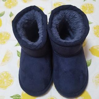 プティマイン(petit main)のムートンブーツ 14センチ(ブーツ)