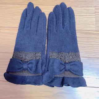 アクシーズファム(axes femme)のaxes*リボングローブ(茶)(手袋)