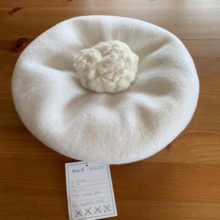 ネストローブ(nest Robe)の10/20迄moi様専用 ポイゼ  pois e  MARY ベレー帽 ホワイト(ハンチング/ベレー帽)