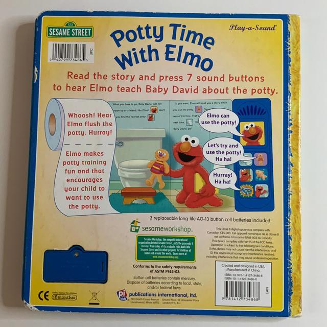 SESAME STREET(セサミストリート)のPotty Time With Elmo   セサミストリート 英語絵本 エンタメ/ホビーの本(絵本/児童書)の商品写真