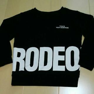 ロデオクラウンズワイドボウル(RODEO CROWNS WIDE BOWL)の★ロデオRCWB★黒トレーナー☆キッズM(Tシャツ/カットソー)