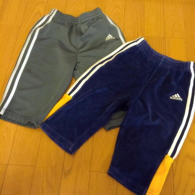 adidas(アディダス)のadidas☆ジャージボトムス2枚セット キッズ/ベビー/マタニティのキッズ服 男の子用(90cm~)(パンツ/スパッツ)の商品写真